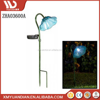 Mini Glass Metal Bell Flower Garden