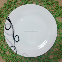 wholesale wedding plates/ different size of dessert plates set with decal