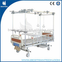 BT-AO005 Stainless Steel Three manual crank orthopedics traction hospital bed