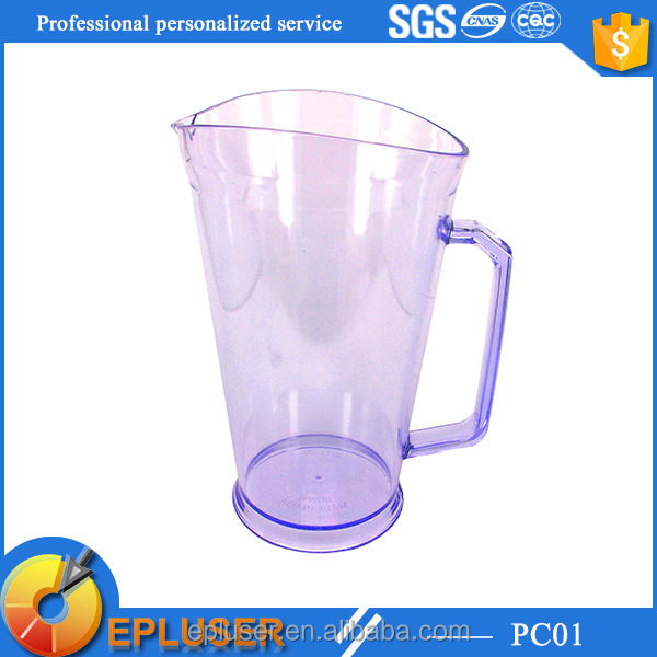 950ml plastic Fruit Infuser Glass Pitcher With logo available