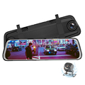 9.66''' Streaming Media Rearview Mirror car camera full hd 1080p car dvr With touch screen and Night Version