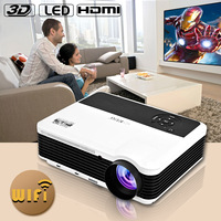 3600lumen Android4.4.2 Full HD LED LCD 3D Wifi smart Projector 170W LED 50000hrs Wireless connect with iphone ipad laptop tablet