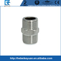 "Brand New 1/2""Male x 1/2""Male Hex Nipple Stainless Steel SS304 Threaded Pipe Fittings New High Quality"