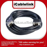 Premium 15M black VGA cable male to male with 2 filters