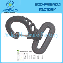 Black plastic carabiner Clip Snap <strong>Hook</strong> ,swivel metal spring clip snap dog <strong>hook</strong>