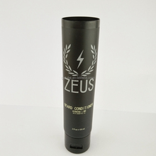 Shiny black plastic cosmetic cream tube packaging for skin care