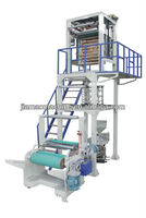 pe shrink film blowing machine with rotary die head and double rewinding