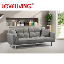 Loveliving Home Furniture Grey Fabric Sofa Bed