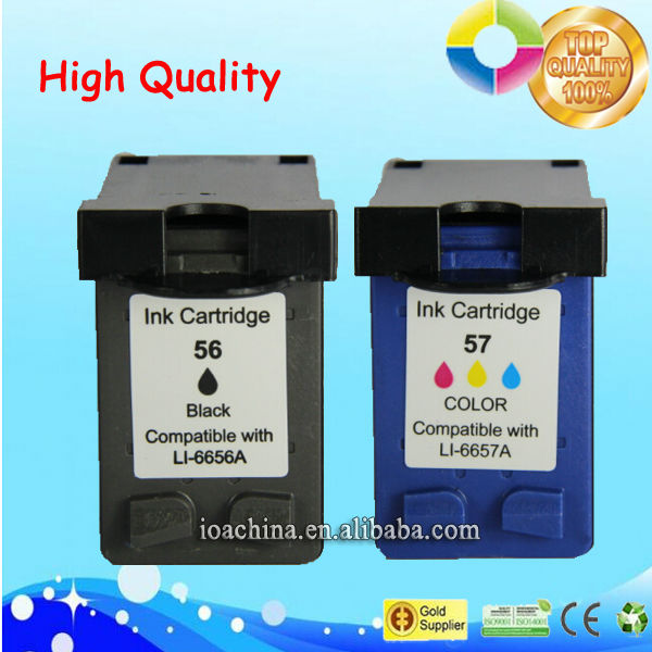 fast sale printer ink cartridge for hp 56 57 C6656A C6657A ink cartridges wholesale