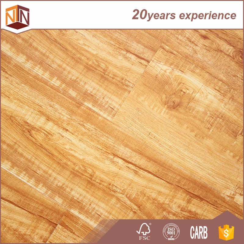 smooth surface natural wood grain laminate flooring 8mm 12mm
