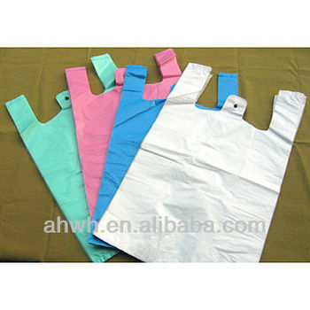 cheap retail t-shirt plastic bags for shopping