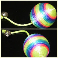 cat rope ball with bell