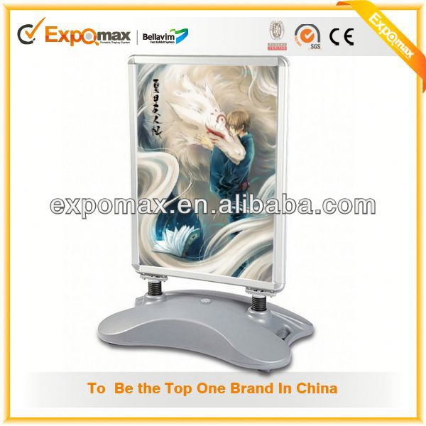 new china market advertising display stand real estate metal sandich board a frame pavement sign board
