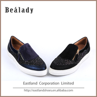 Hot sale fashion classic suede leather rubber outsole semi casual shoes