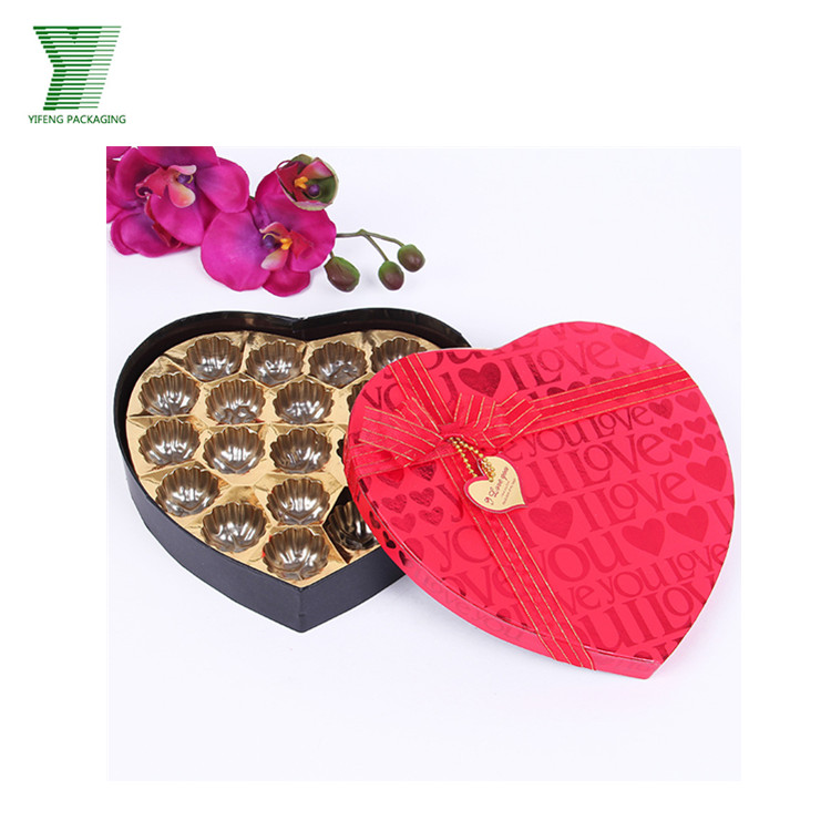 Valentine's day sweet gift to lover heart shaped packaging with uv logo