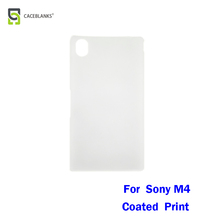 minimalistic back cover 3d blank sublimation soft touch coating case for sony m4