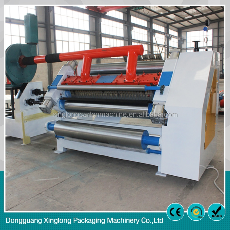 High performance fingerless type single facer corrugated box machine