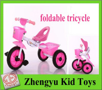 wholesale baby toys foldable kid tricycle baby pedal bike