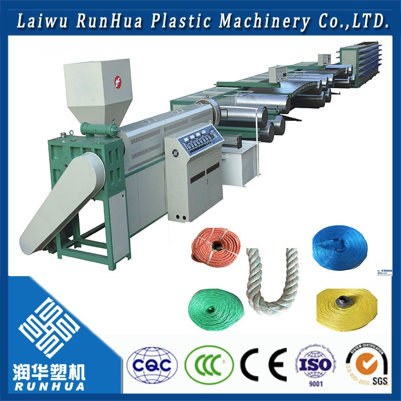 hdpe extrusion drawing machine rope making machine for pp filament