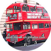 Wholesale London bus canvas round wall clock