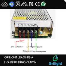 led strip switching power supply 12v ac 12v dc led driver 350ma
