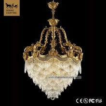 Factory-outlet Baroque 8 Lights Bronzed Bedroom Candle Bronze italian crystal chandelier