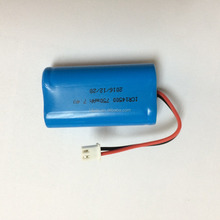 High quality Lithium ion battery ICR14500 750mAh 7.4V 5.55Wh discharge current 1A with PCB for battery pack