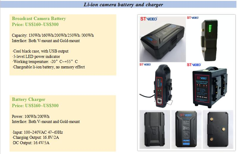 100W Dual-channel DC Output v-lock or gold-mount Li-ion Battery power supply bettery charger