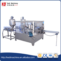 With 2 fillers Automatic Liquid Packing Machine