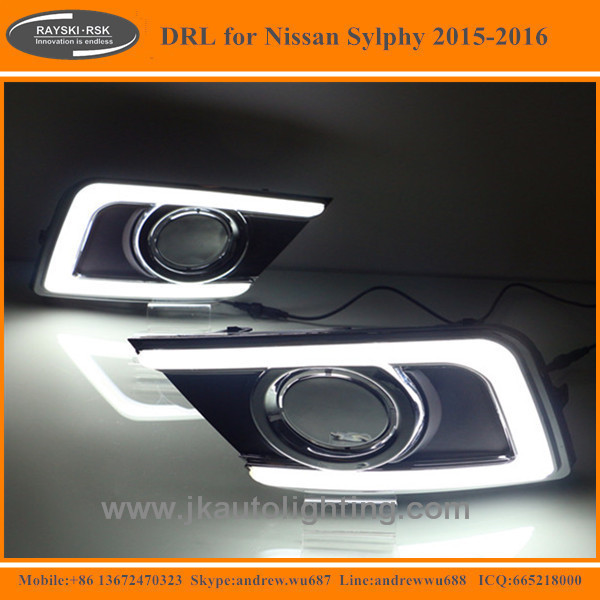 New Arrival High Quality LED DRL for Nissan Sylphy Best Selling LED Daytime Running Light for Nissan Sylphy 2015-2016