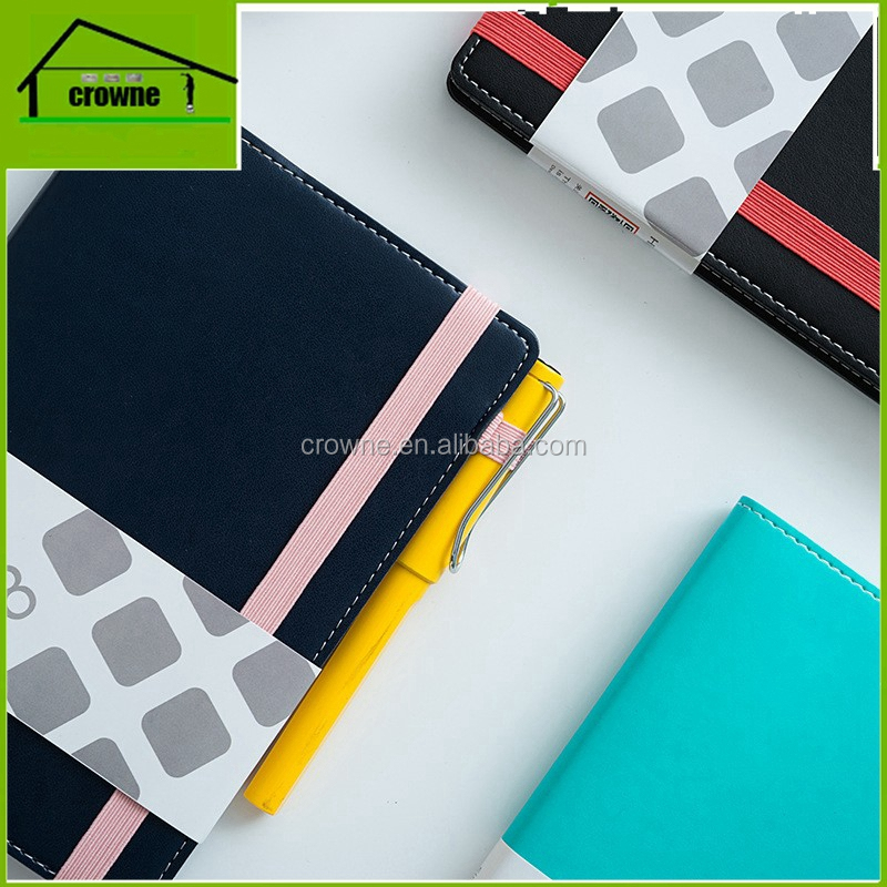 A5 size notebook with pen holder, metal ring band ,writting book