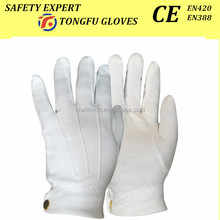 100% cotton white hand gloves waiter gloves