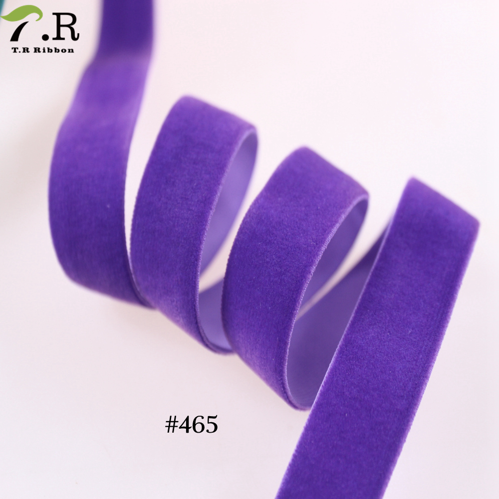 purple velvet elastic ribbon high quality ribbon for garment