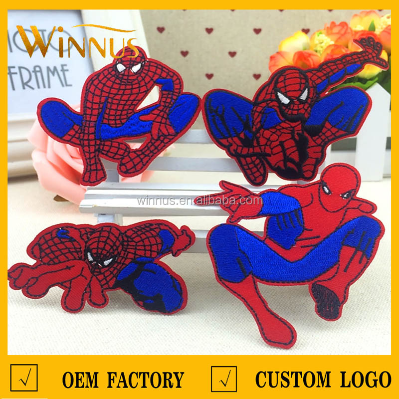 3D baby clothes embroidered cartoon logo patches