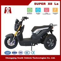 Super X8,Cheap adults 60V 2000W electric tricycle with Lead Acid Battery for Sale