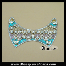 New arrival colorful rhinestone shoe applique head crystal ornament embroidery applique