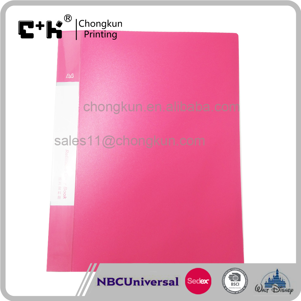 A4 Plastic 60 Pages Pockets Clear Sheets Office File Document Folder