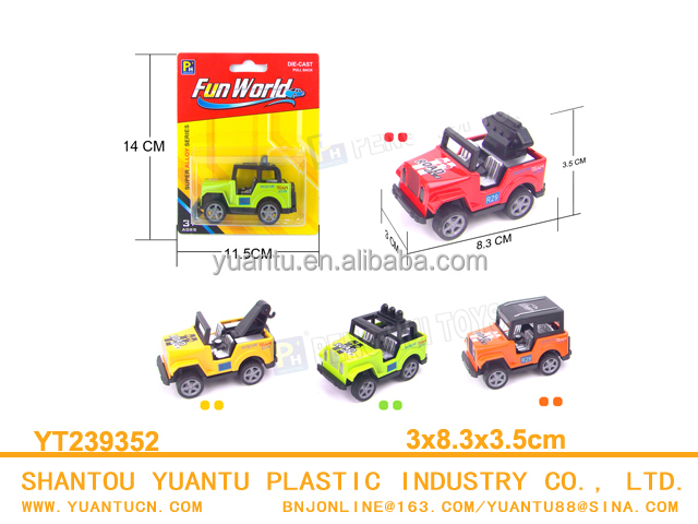 Diecast Pull back mini jeep toys