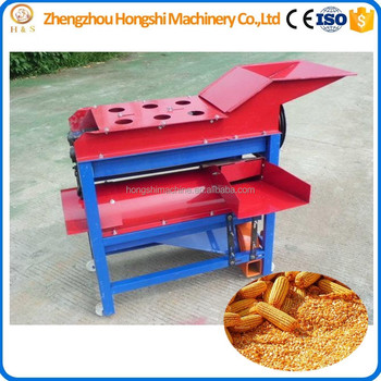 New type corn peeler and thresher machine