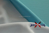 birds eye cloth, polyster fabric and light blue mesh fabric
