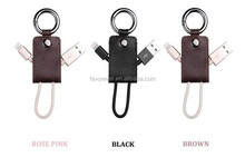 Cheap price high speed portable key chain usb data cable charging cable for cellphone