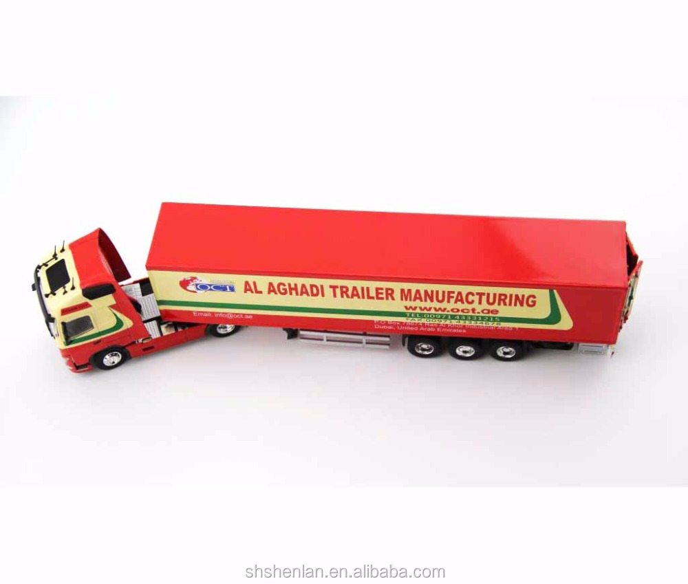 Mini metal scale 1:50 high quality assembling container truck toy