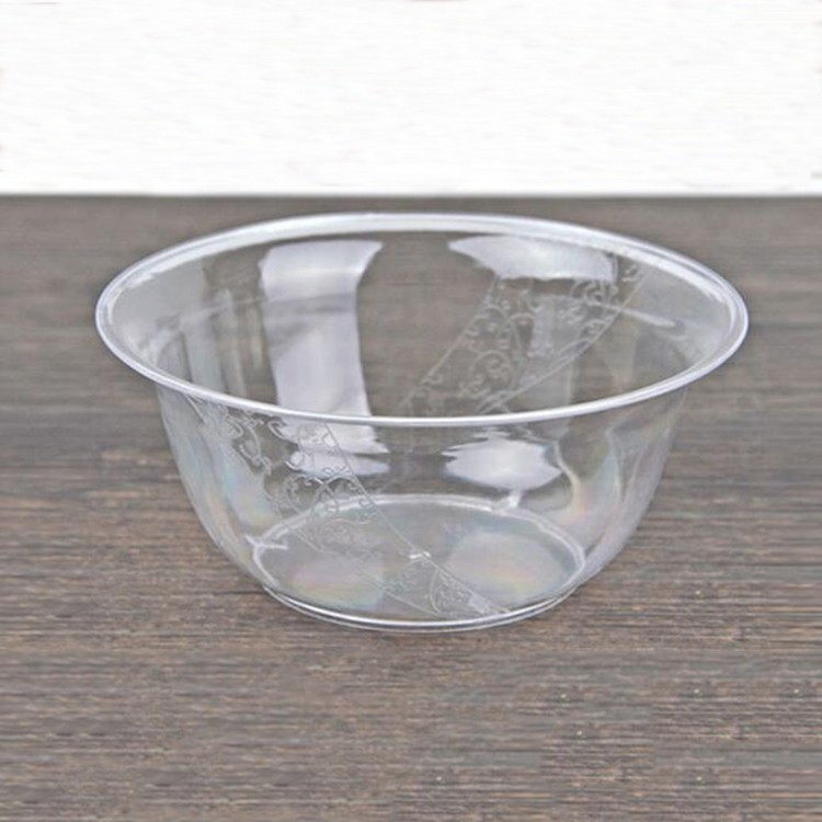 small clear plastic dinnerware disposable hot soup bowls