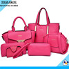 China Suppliers custom traveling trendy ladies leather hand bags 2015 fashionable women's fashion