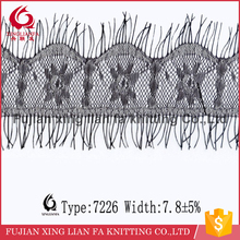 1.5ards /7.8cm width nylon eyelash lace trim child accessory/lace blouse accessories