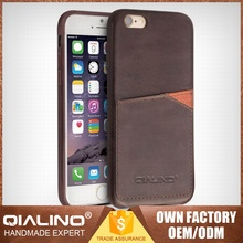QIALINO Classical Hand-Made Top Layer Leather Joyroom Case For Iphone 6S