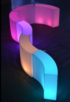 Special eye-catching illuminant curved bar furniture narrow cocktail table sectional modern led counter