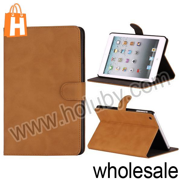 Low-profile Design Notebook Type Flip Stand Magnetic Leather Case for iPad Mini Four Colors