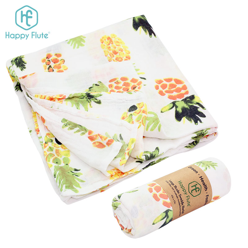 2018 happyflute Baby Muslin Wrap Swaddle Blanket 100% Organic <strong>Cotton</strong> Super Soft
