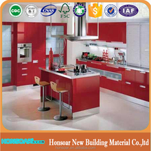 2017 China factory modern style lacquer finished door wood l shaped modular kitchen cabinet design for small kitchen